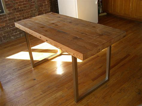 reclaimed wood table  steps  pictures
