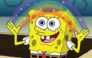 Spongebob's Rainbow Imagination - Wallpaper #37884