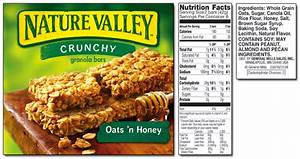 nature valley granola bar nutrition label Car Tuning