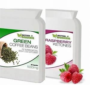 Raspberry Ketone   Green Coffee Bean Extract Diet Weight Loss Slimming Pills