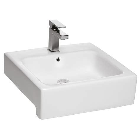 semi recessed toto valdes square semi recessed basin
