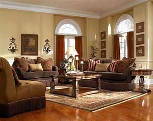 Contemporary living room interior design ideas with brown for Interior design living room ideas set