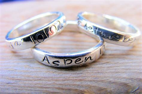 personalized name stacking ring custom handsted