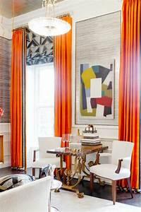 Rideau Couleur Or : rideau de salon de couleur orange photo ~ Teatrodelosmanantiales.com Idées de Décoration