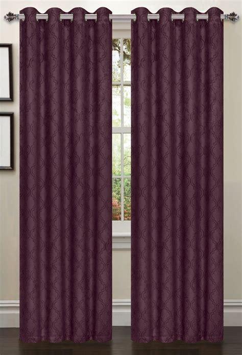 lattice blackout curtain 2 piece set plum moshells