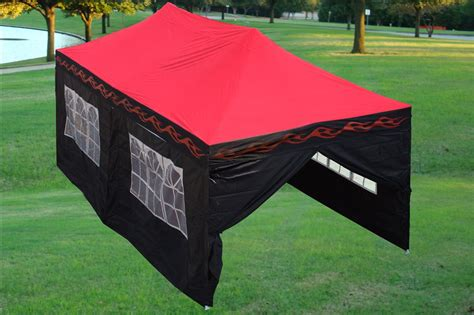 red flame pop  tent canopy gazebo