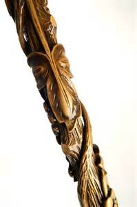 Hand Carved Wooden Cane Walking Stick