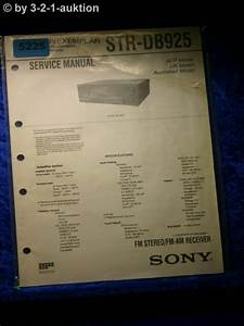 Sony Service Manual Str Db925 Fm  Am Receiver   5225