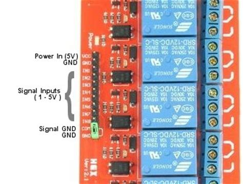 Channel Relay Module With Opto Isolated Inputs