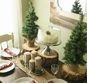 Weihnachtsdeko Ideen Selbermachen : winter deko tisch naturmaterialien holzscheiben home ~ Orissabook.com Haus und Dekorationen