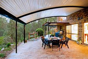 Patio, With, Curved, Roofs