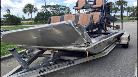 Airboat Houston by Thrown Airboat In Everglades Collision
