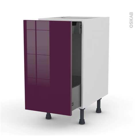 meuble cuisine largeur 50 cm meuble de cuisine bas coulissant keria aubergine 1 porte 1