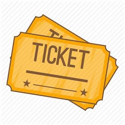 Ticket Cartoon Cinema Transparent Clipart Tickets Sign
