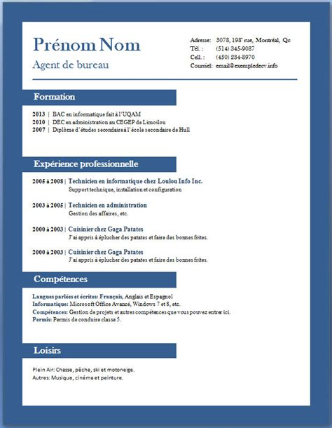 resume model in word exemples et mod 232 les de cv gratuits 65 224 72 exemple de cv info