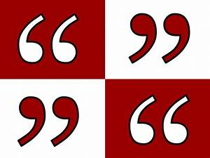 Single quotes o... Quotation Marks Quotes