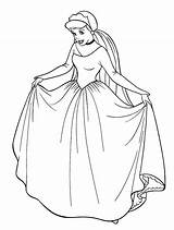 Coloring Pages Cinderella Fancy Disney Colouring Princess Dresses Printable Adult Bride Princesses Getcolorings Children Bridal Colorings Clipart sketch template