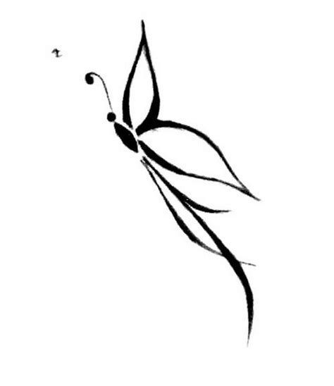 amazing tribal butterfly tattoo design small  simple