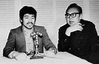 Bruce Lee and Lo Wei at an interview for HongKong tv at ...