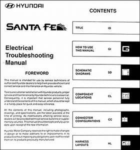 2004 Hyundai Santa Fe Electrical Troubleshooting Manual Wiring Diagram Schematic