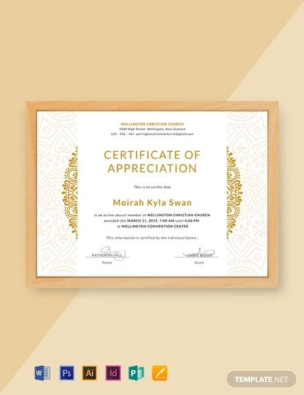certificate templates word psd indesign