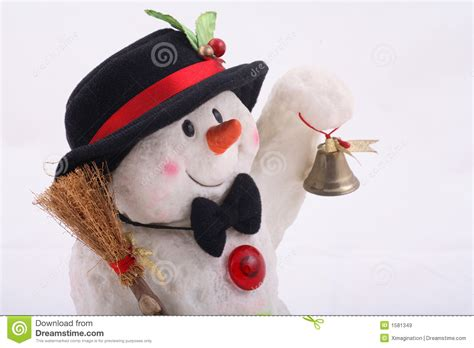 cute snowman doll  hat stock image image  doll