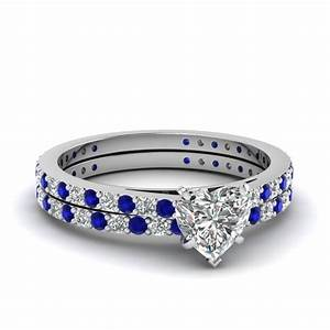 blue sapphire accent engagement rings fascinating diamonds With heart diamond wedding rings