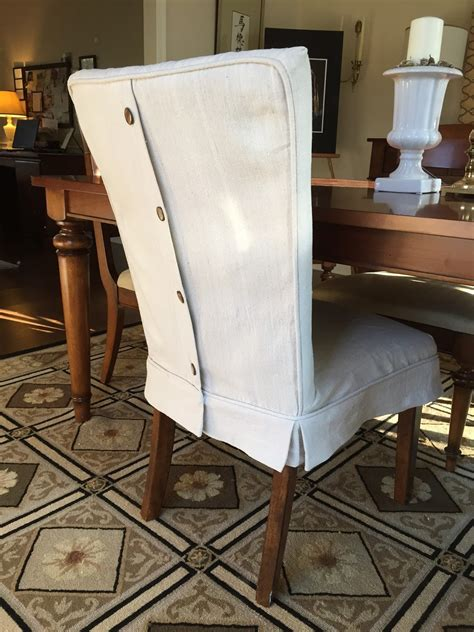 pam morris sews dropcloth slipcovers  leather parsons