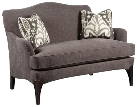 Wood Settee Furniture by Fairfield Sofa Accents Contemporary Styled Settee Sofa
