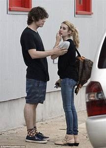 Emma Roberts comforted by Evan Peters after domestic