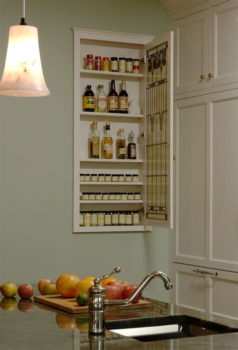 Recessed Spice Rack by 1000 Ideas About Spice Cabinet Organize On