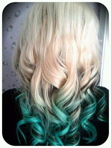brown  alpine green ombre hair color hair colors ideas
