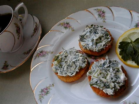 canape spread canapes with green spread recipe food com