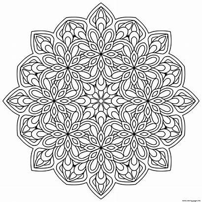 Mandala Coloring Mandalas Zen Flowers Pages Stress