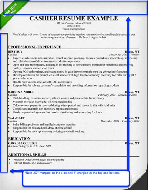 Correct Margins For A Resume resume aesthetics font margins and paper guidelines resume genius