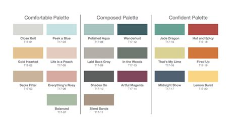 interior color palettes 2017 color palettes top home interior paint colors for