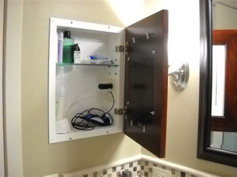 bathroom medicine cabinets with electrical outlet recessed picture frame medicine cabinets with no mirrors