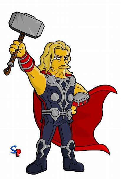 Thor Avengers Simpsons Marvel Clipart Simpson Avenger