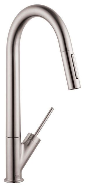 hansgrohe axor uno2 kitchen faucet hansgrohe axor starck higharc kitchen faucet in stainless