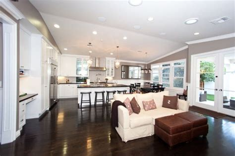 simple custom home design ideas placement kitchen and living room kitchen room