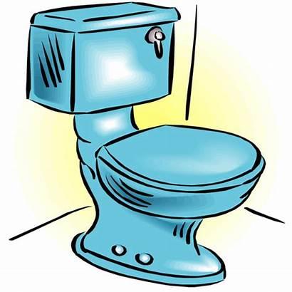 Toilet Clip Clipart Cartoon Flush Toilets Bathroom