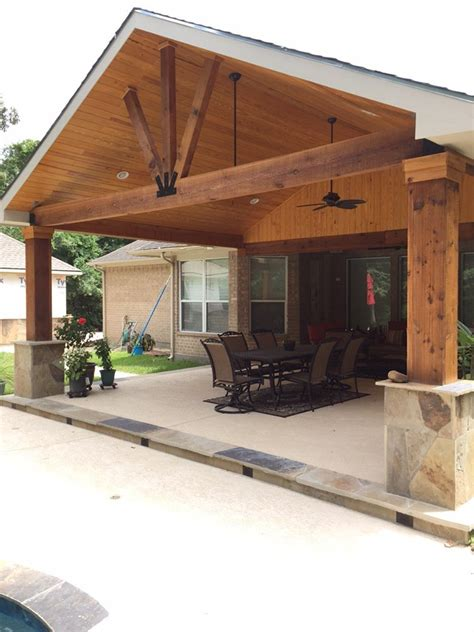 attaching patio roof to existing roof backyard paradise magnolia tx united states gable