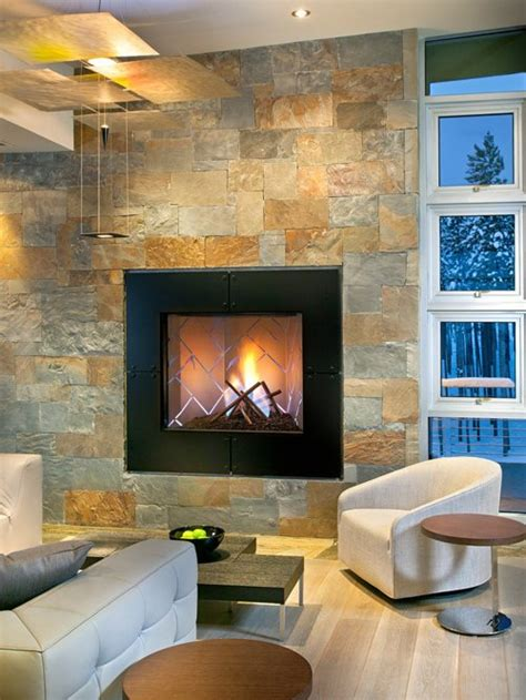 slate fireplace houzz