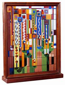 frank lloyd wright saguaro wood framed stained glass With kitchen cabinets lowes with frank lloyd wright metal wall art