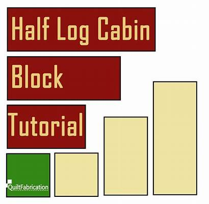 Cabin Log Half Block Tutorial Quilt Drawing