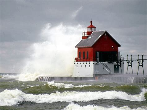 sea waves storm lighthouse wallpapers hd desktop