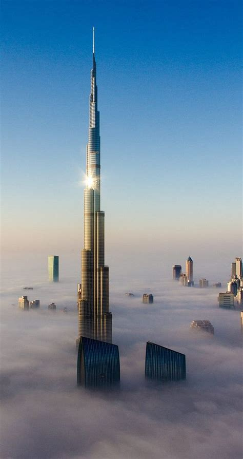 Dubai Burj Khalifa above Clouds