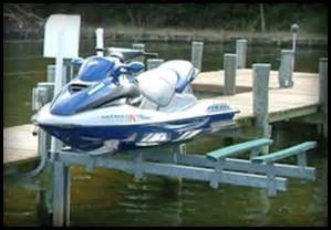 Vertical Boat Lift Cable Routing by Lunmar Boat Lifts Minimag Dual Jet Ski Lift Pwc Lifts