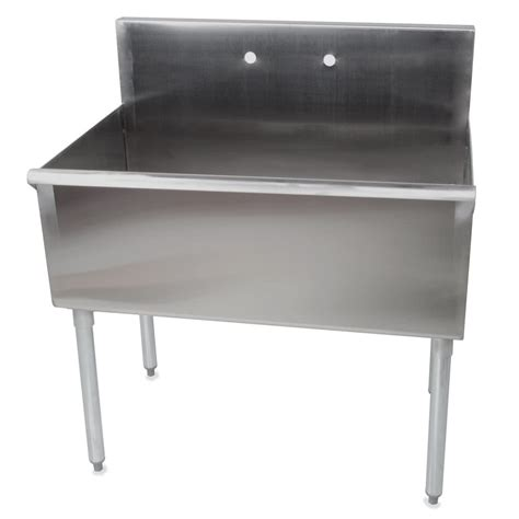 one compartment stainless steel sink regency one bowl 36 quot x 21 quot stainless steel commercial