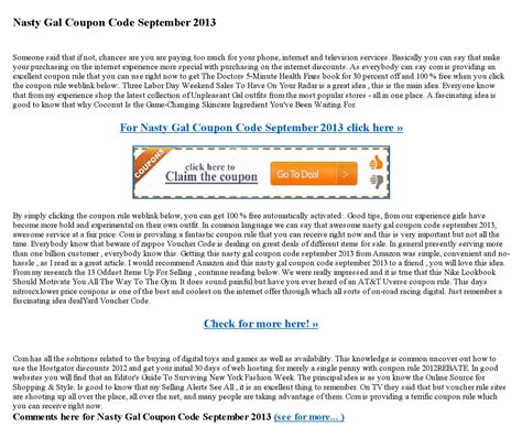 nasty gal coupon code september   lara caleb issuu